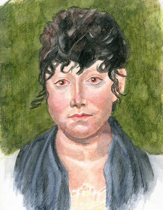 Practice Watercolor Portrait